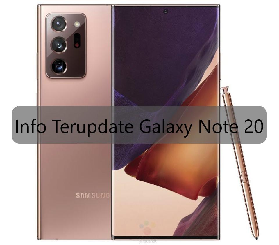 Info Terupdate Galaxy Note 20